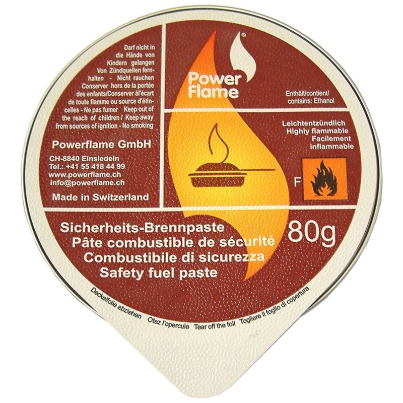 powerflame sicherheits brennpaste 80g in aluschale 1stk. Black Bedroom Furniture Sets. Home Design Ideas
