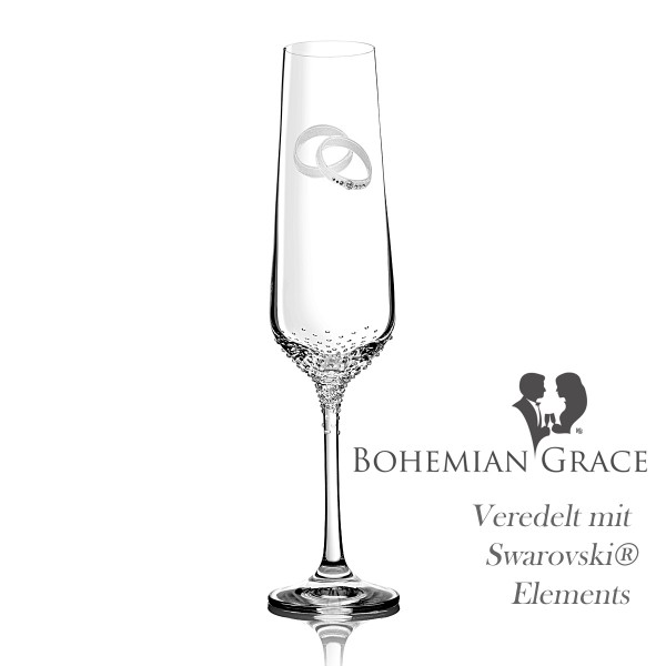Sektglas PORTE von Bohemian Grace
