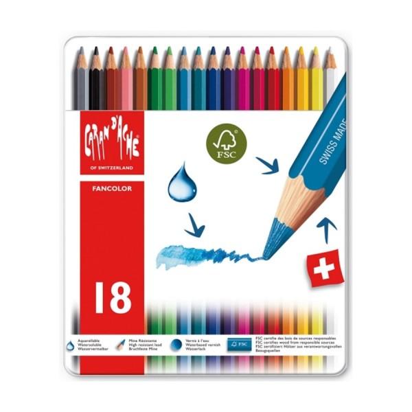 Caran D'Ache Fancolor Set mit 18Stk