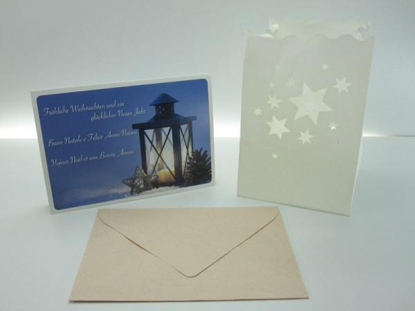 Carte de vœux, lumière decorative Yojeux