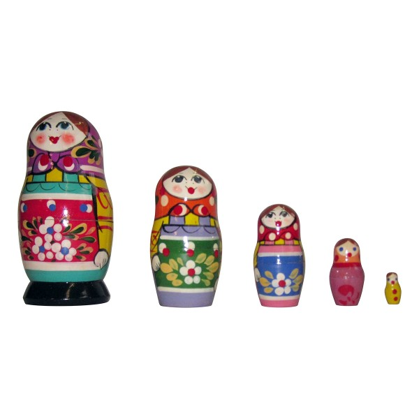 Matrjoschka Puppen 5tlg, 11cm Matroschka