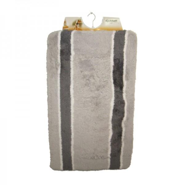 OPAL gris rayé tapis de bain 60x100cm