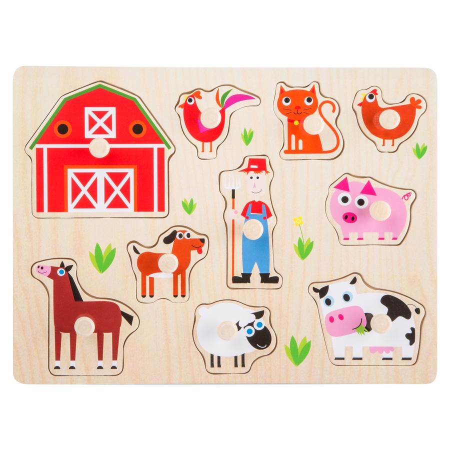 Holzspielzeug Puzzle Berufe Spielzeug aus Holz Legler Setzpuzzle Lernspielzeug Holzpuzzle