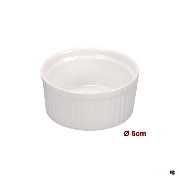 Ramequin, kleine Porzellan Form, 6.0cm