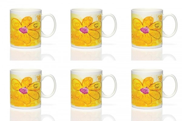 PAVA more flowers-yellow 6Stk. Becher