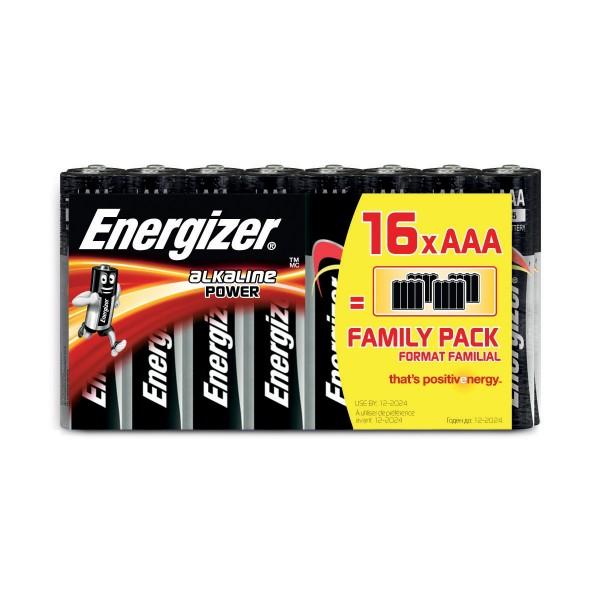 Energizer Alkaline pile, type AAA 16pc