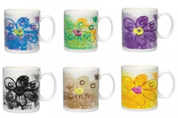 PAVA more flowers-color 6pc mug