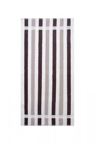 OPAL GRAU Streifen Handtuch 50x100cm