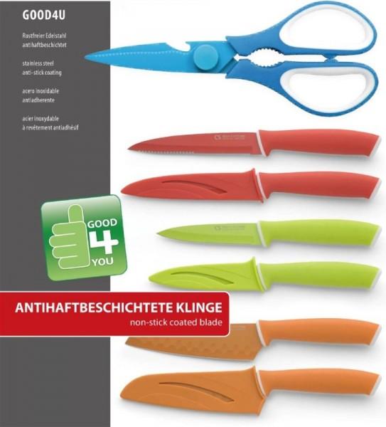 couteau GOOD4YOU couteaux, ciseaux 4pc