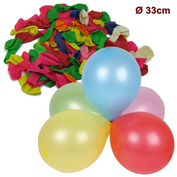 Ballons de baudruche fête, D33cm, 100 pc