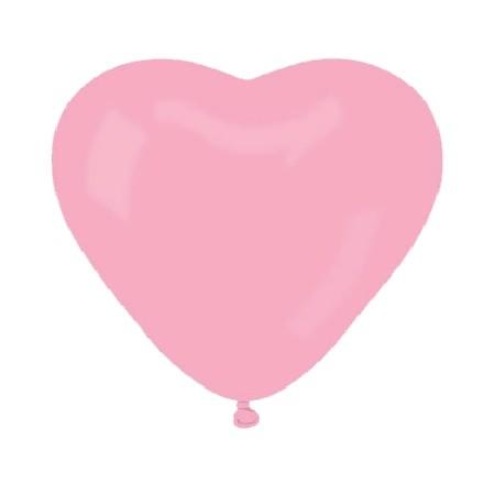 Ballon de baudruche cœur rose, 40cm,20pc