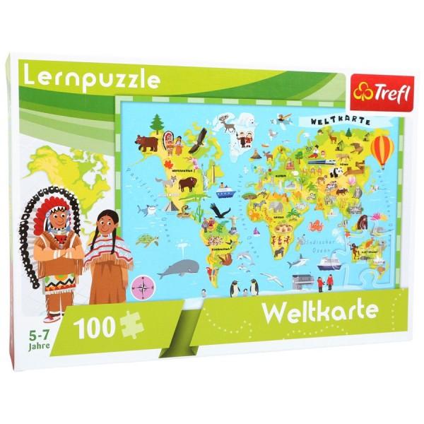Lern-Puzzle Weltkarte, 100tlg, von trefl