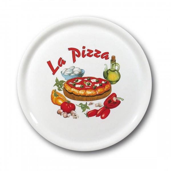 Assiette à pizza 31cm, décor: La Pizza