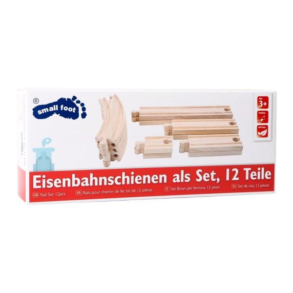 Holzeisenbahnschienen Set 12tlg