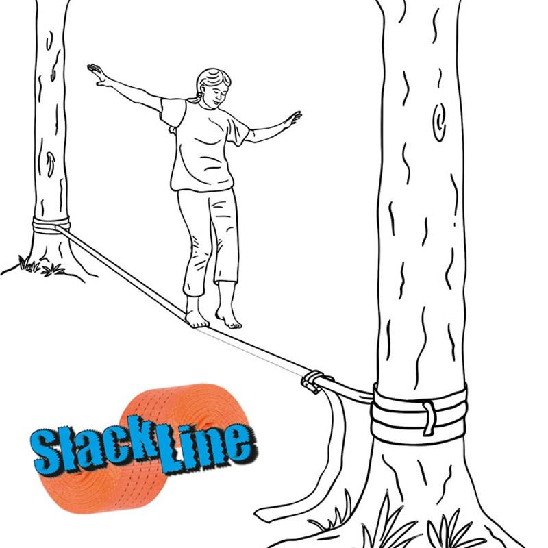 slackline seiltanz slack line. Black Bedroom Furniture Sets. Home Design Ideas