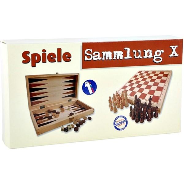 Jeu de jeux avec échecs, dames, dés