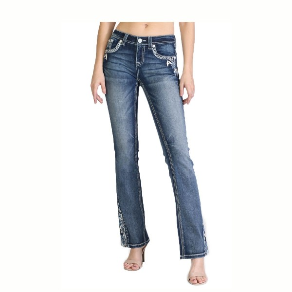 EasyFit Bootcut Jeans Aztec