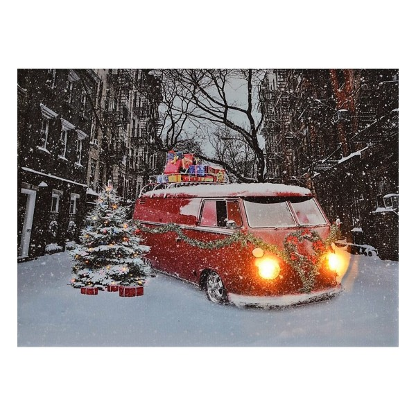 LED Bild 40 x 30 cm - VW Bus