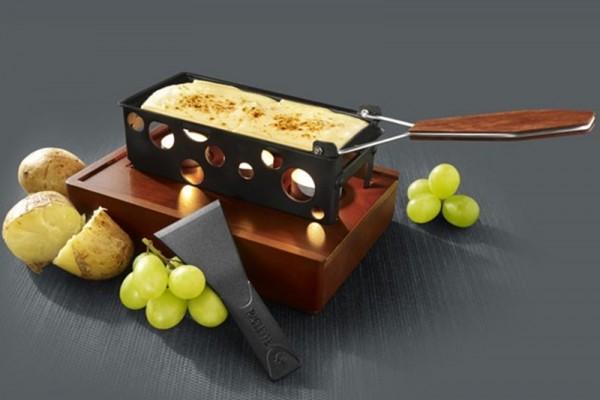 Raclette mit Teelichtern, Holzbox, Boska