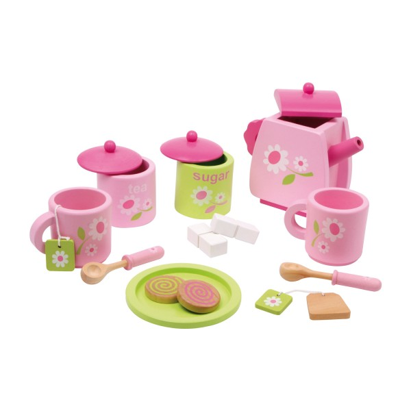 Kinder-Teeservice mit Blümchenmuster