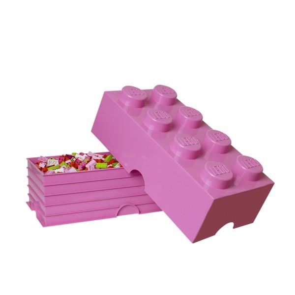 XXL Lego Aufbewahrungsbox 8 Noppen, Pink