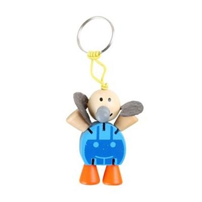 Porte-clés, -Anim.flex-, éléphant, bleu