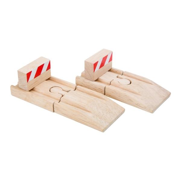 Prellbock für Holzeisenbahnen, Set 4-tlg