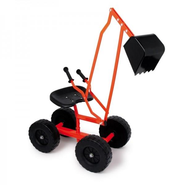 Bagger, Kinder- Sitzbagger mit Rädern