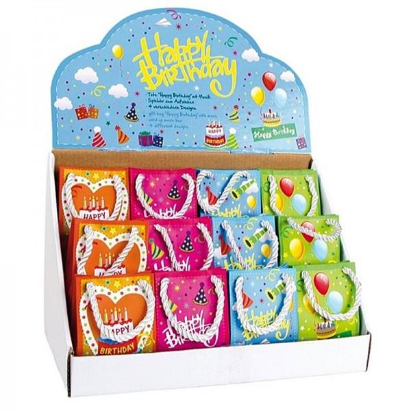 Spieluhr -Happy Birthday-, Display 12Stk