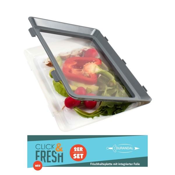 Click & Fresh Frischhalteplatten 2er Set