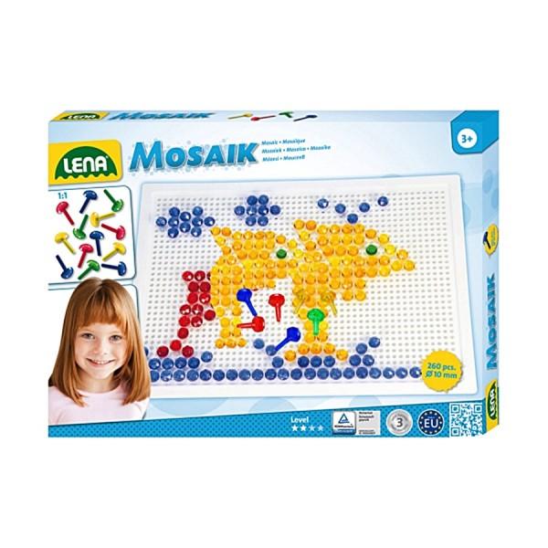 LENA Spielzeug Mosaik mit Steck- Stiften