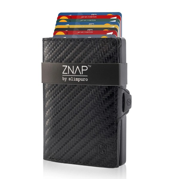 ZNAP 12 - mini Wallet Carbon Kartenetui
