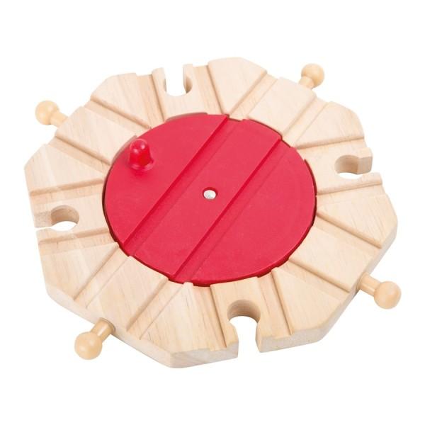Plaque tournante circuit train en bois