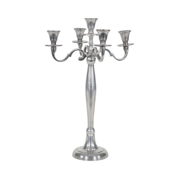 chandelier à 5 branches - argente 40,5cm