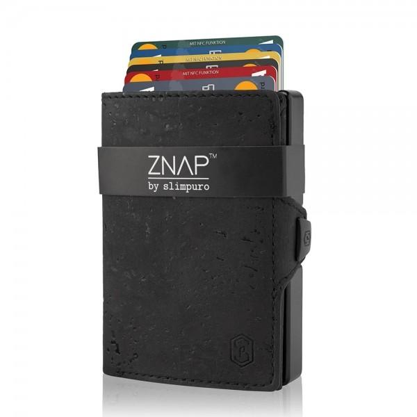 ZNAP 8 - slim Wallet Korkleder Schwarz