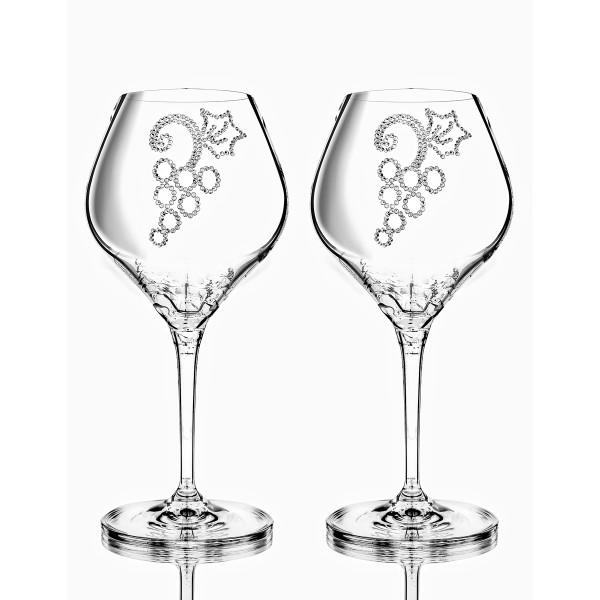 Weinglas 2Stk GRAPES Bohemian Grace