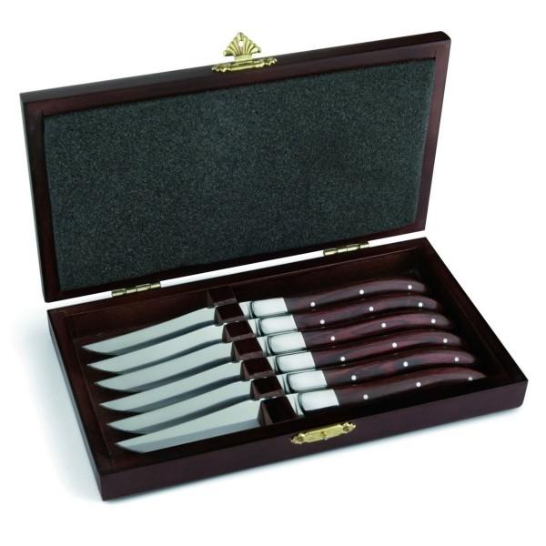 Laguiole Steakmesser 6Stk. mit Holzbox