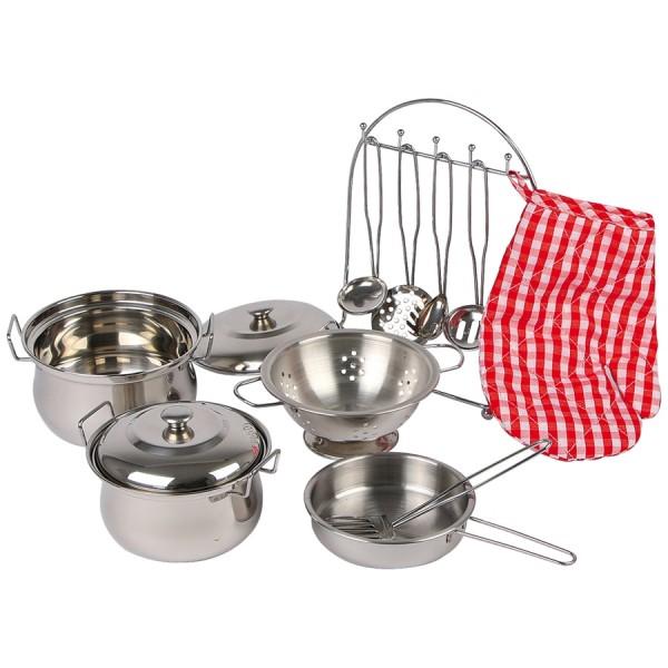 Kinder Kochgeschirr Set für Kinderküche