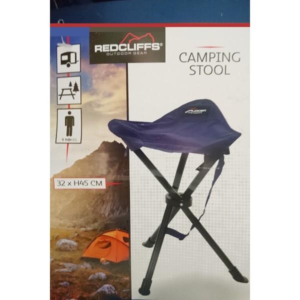 3-Bein Campinghocker klappbar 40 x 13cm