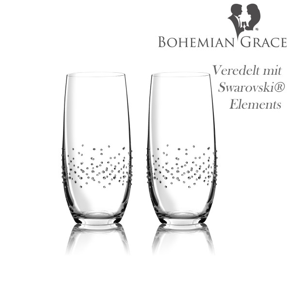 Trinkglas, 2 Gläser Bohemian Grace TAB