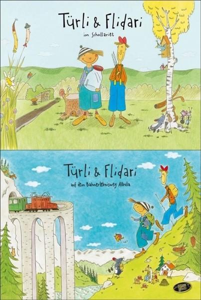 livre d'images,Türli&Flidari,lot vol 1&2