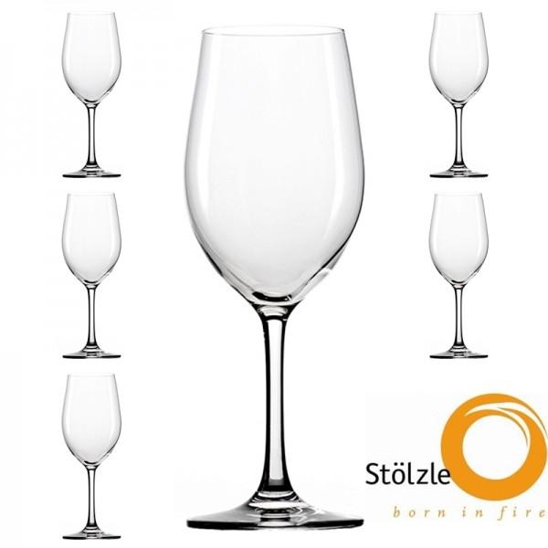 Glas, CLL, 6x Weissweinkelch Gläser, 370
