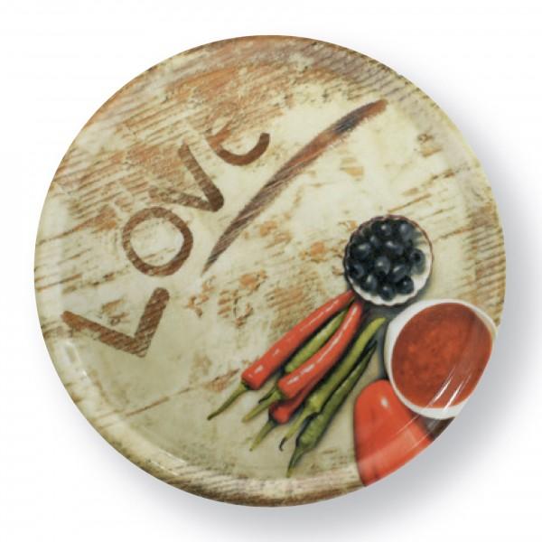 Pizzateller 33cm Motiv LOVE
