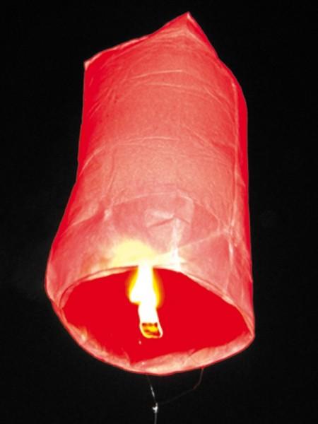 Himmelslaterne, Heissluftballon, rot