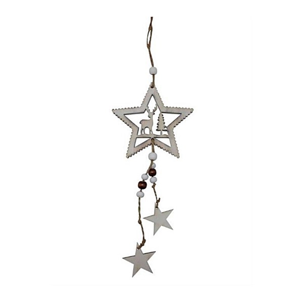 Wand- Türhänger Dekoration Stars, Holz