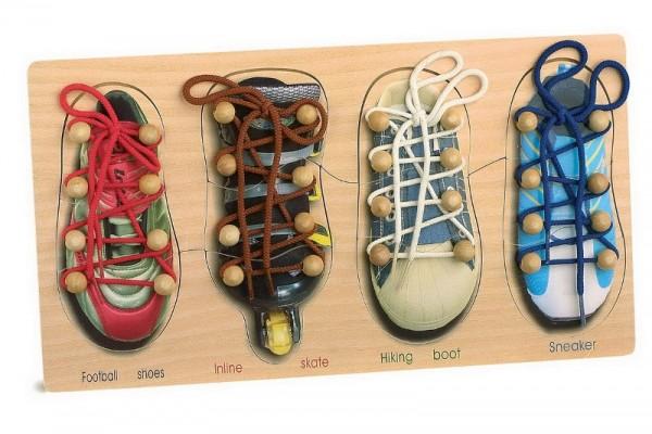 lerne Schuhe binden