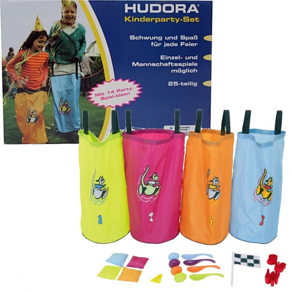 Kinderpartyset: Hüpfsack, Wurfkissen etc