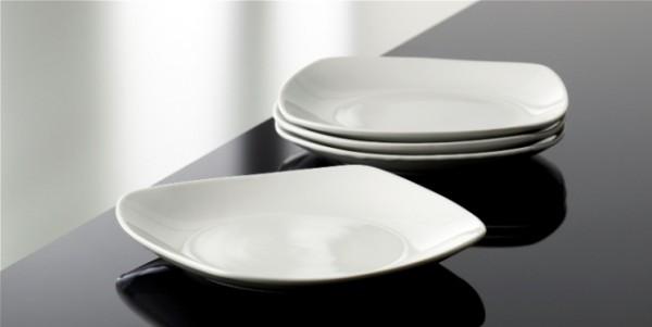BISTRO SQUARE WH 4pc assiette plate 19cm