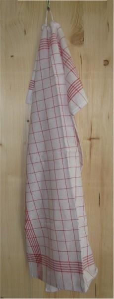 torchon vaisselle rouge,carr.,60x80,10pc