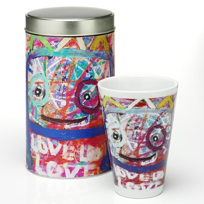 POUL PAVA love love love thermo Mug (Tasse) & Geschenkdose, PAVA love love love thermo Mug, Gesche